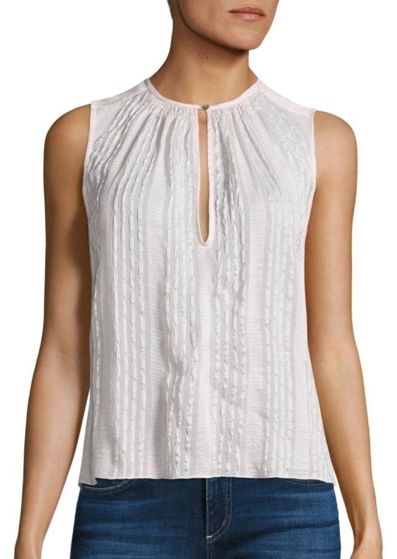 Rebecca Taylor Striped Silk Top