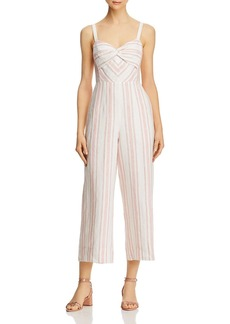 Rebecca Taylor Striped Sweetheart Jumpsuit
