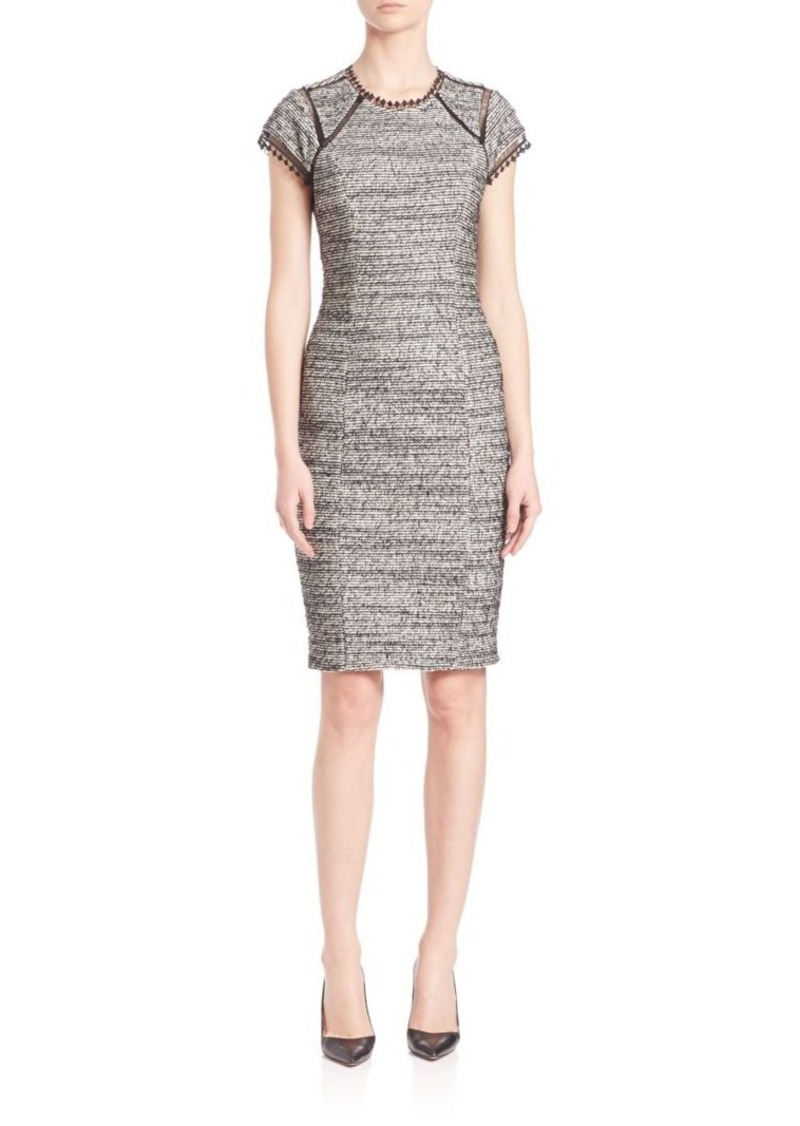 Rebecca Taylor Striped Tweed Shift Dress