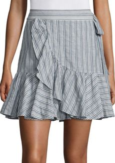 Rebecca Taylor Striped Wool Blend Skirt