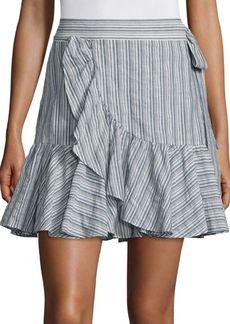 Striped Wool Blend Skirt