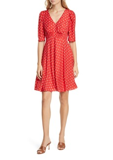 Rebecca Taylor Sunrise Dot Silk Blend Dress