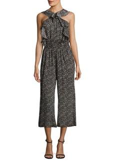 Rebecca Taylor Sweet Briar Cropped Silk Jumpsuit