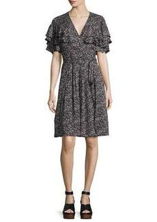 Rebecca Taylor Sweet Briar Short-Sleeve Mini Dress