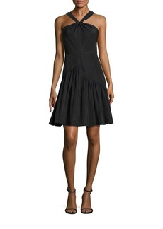 Rebecca Taylor Taffeta Halter Dress