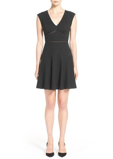 Rebecca Taylor 'Taylor' V-Neck Fit & Flare Dress