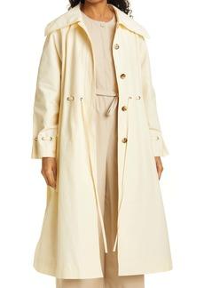 Rebecca Taylor Techy Cinch Waist Cotton Blend Trench Coat