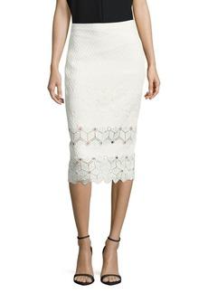 Textured Cutwork Skirt