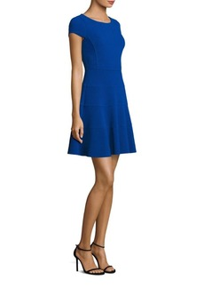 Rebecca Taylor Textured Fit-&-Flare Dres