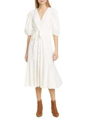 Rebecca Taylor Textured Ikat Midi Dress