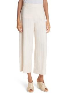 Rebecca Taylor Textured Stripe Crop Pants