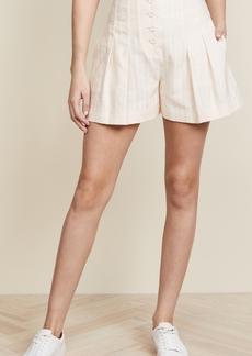 Rebecca Taylor Textured Stripe Shorts