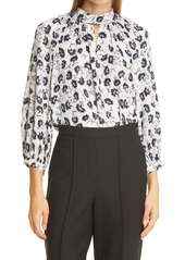 Rebecca Taylor Thistle Fleur Silk Blend Blouse