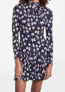 Rebecca Taylor Thistle Fleur Turtleneck Dress
