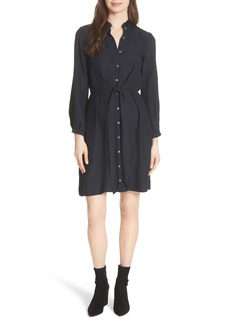 Rebecca Taylor Tie Front Silk Shirtdress