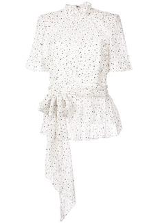 Rebecca Taylor tie waist bow blouse - White