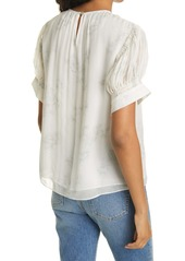 Rebecca Taylor Toile Short Sleeve Blouse