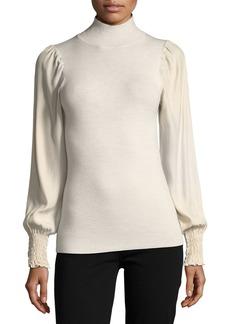 Rebecca Taylor Turtleneck Merino Wool Pullover Sweater