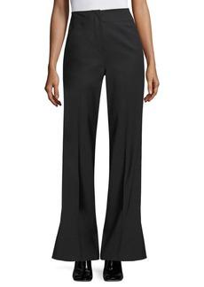 Rebecca Taylor Tuxedo Wool-Blend Flare Pants