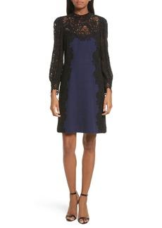 Rebecca Taylor Tweed & Lace Dress