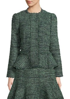 Rebecca Taylor Tweed Fit-&-Flare Jacket