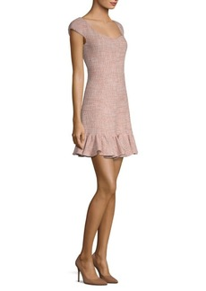 Rebecca Taylor Tweed Flounce Dress