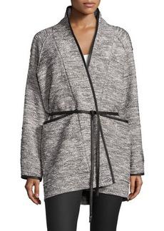 Rebecca Taylor Tweed Tie-Waist Jacket