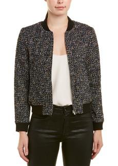 Rebecca Taylor Tweed Wool-Blend Bomber Jacket