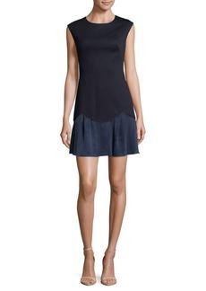 Rebecca Taylor Two-Tone Sheath Dress