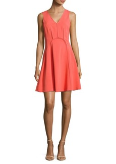 Rebecca Taylor V-Neck Sleeveless Dress