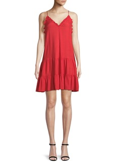Rebecca Taylor V-Neck Sleeveless Silk Slip Dress