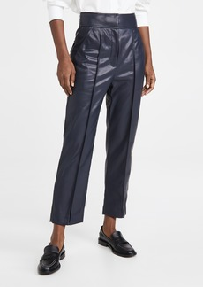 Rebecca Taylor Vegan Leather Stovepipe Pants