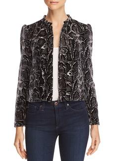 Rebecca Taylor Velvet Snake-Print Jacket