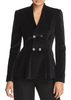 Rebecca Taylor Velveteen Double-Breasted Blazer