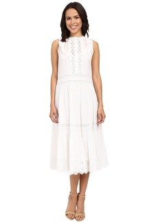 Rebecca Taylor Victorian Voile Sleeveless Voile Lace Dress