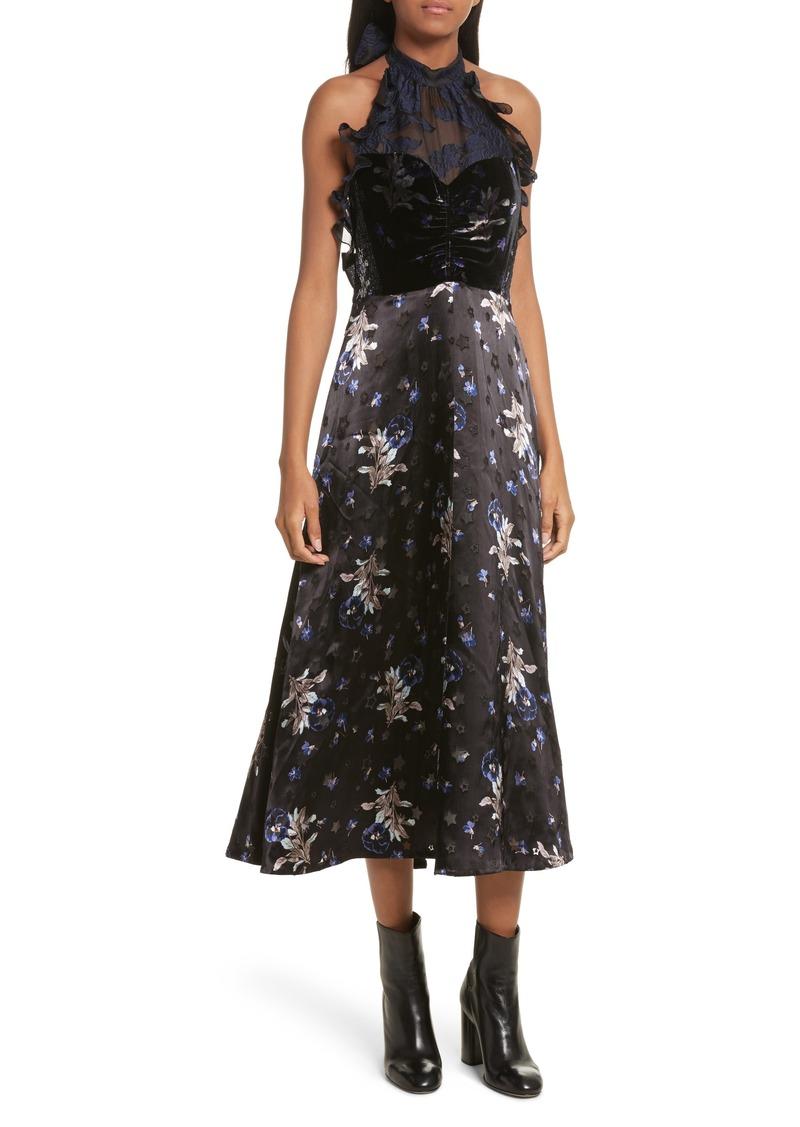 Rebecca Taylor Rebecca Taylor Violet Velvet Halter Dress