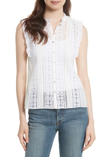 Rebecca Taylor Voile & Lace Top