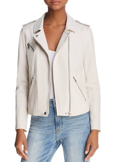 Rebecca Taylor Washed Leather Moto Jacket