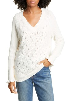 Rebecca Taylor Wavy Pointelle Sweater
