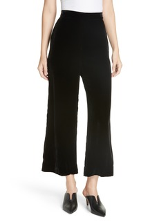 Rebecca Taylor Wide Leg Crop Velvet Pants