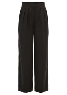 Rebecca Taylor Wide-leg satin trousers
