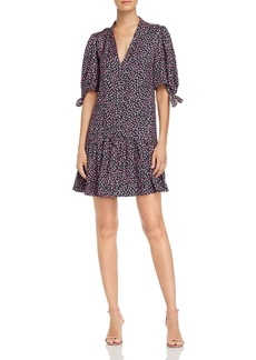 Rebecca Taylor Wild Rose Floral-Print Dress
