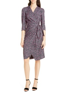 Rebecca Taylor Wild Rose Print Wrap Dress