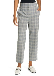 Rebecca Taylor Windowpane Plaid Ankle Trousers