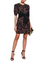 Rebecca Taylor Woman Brocade Mini Dress Rose Gold