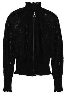 Rebecca Taylor Woman Corded Lace Bomber Jacket Black