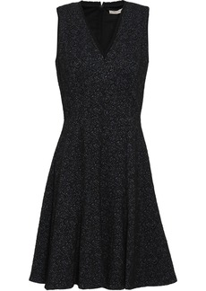Rebecca Taylor Woman Cotton-blend Jacquard Mini Dress Black