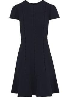 Rebecca Taylor Woman Crochet-trimmed Matelassé Mini Dress Black