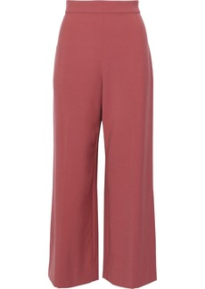 Rebecca Taylor Woman Cropped Cady Wide-leg Pants Antique Rose