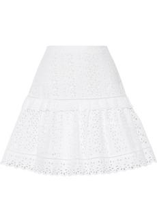 Rebecca Taylor Woman Karina Broderie Anglaise Cotton Mini Skirt White